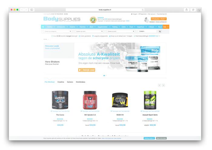 Voedingsupplementen webshop