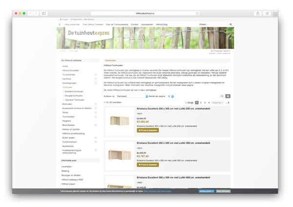 Hillhouttuinhout webwinkel