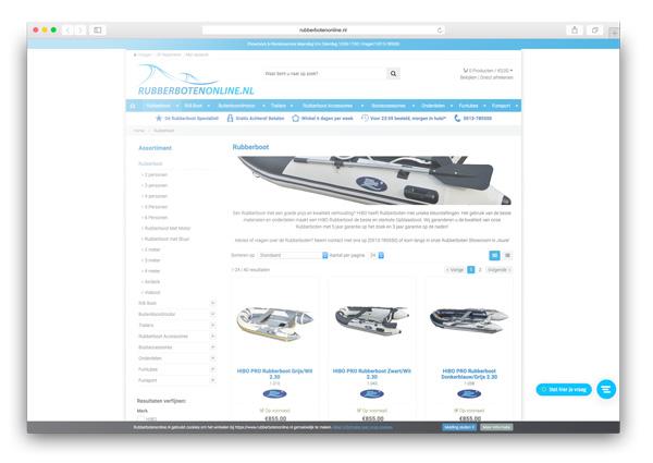 Rubberboten Online webwinkel