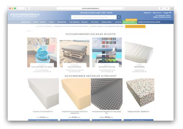 Schuimrubber webwinkel