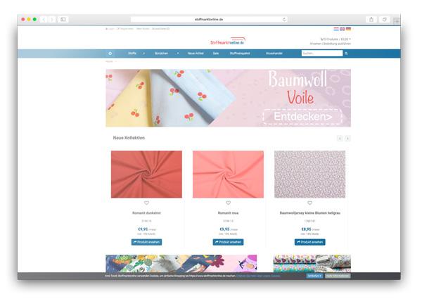 Online stoffen webwinkel