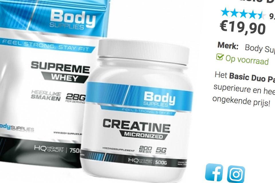 Body Supplies webshop in voedingsupplementen