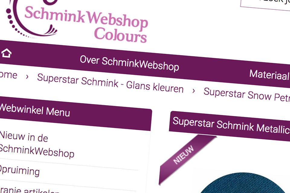 Schminkwebshop webshop in schminkartikelen